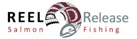 Reel Release Salmon Fishing Logo